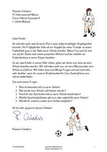 Fussball Brief