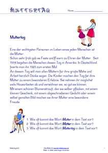 Muttertag Text 1